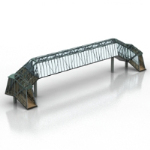 3D model of the iron girder bridge