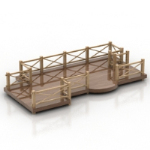 3D model of the park decorative bridges
