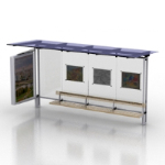 3D model of bus shelters
