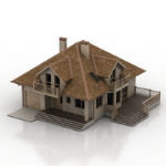 brown villa model