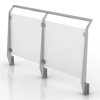 outdoor glass fence model
