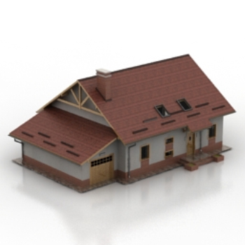 red brick villa model