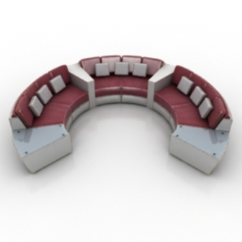 Ring multiplayer sofa 3D model