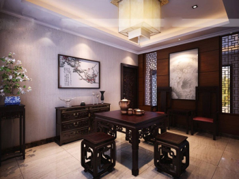 Chinese home small restaurant 3D models