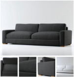black and gray sofa 3D model