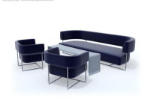 simple black and gray sofa 3d mold