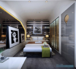 creative decoration after modern bedroom 3D model