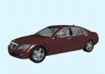 3d dark red Mercedes models