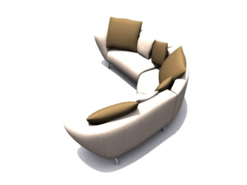 Simple and comfortable sofas 3d models
