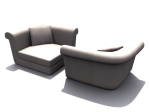 Fan-shaped sofa 3D model