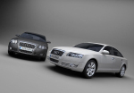 Black and white Audi 3D model