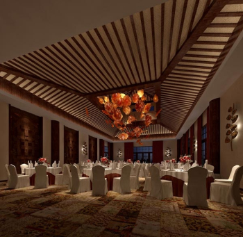 Hotel Banquet Hall In 3d 3d Model Download Free 3d Models