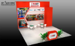 Indoor booth 3D renderings