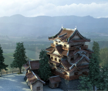 Japanese architecture 3d model