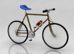 3D model without rear seat single bicycle