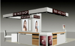 Sales of cosmetics showcase model renderings