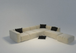 Multi person sofa 3D model