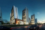 High-rise commercial buildings in 3D
