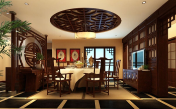 Deluxe Room package 3d model Chinese Restaurant