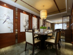 Chinese style restaurant 3d model home