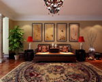Luxury living room 3d model of Chinese antiquity