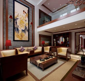 Classical cozy living room 3d model