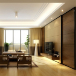 3d model of modern Chinese living room