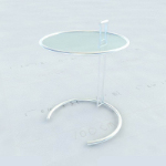 Round glass top tables 3D model