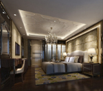3d model decoration bedroom deluxe continental