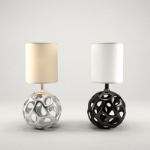Creative lamp metal balls 3D model
