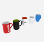 Multicolor ceramic coffee cup 3d model