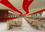 Clean and fresh fast-food restaurants in 3D