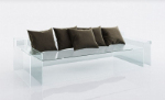 Gray and black glass sofa cushion 3D model
