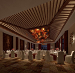 Hotel banquet hall in 3D