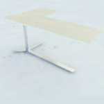 Personalized wooden table 3D model
