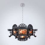 Chinese vintage chandelier 3d model