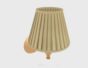 Yellow lampshade wall lamp 3d model