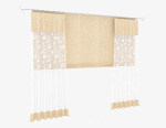 Light yellow lace curtain 3d model