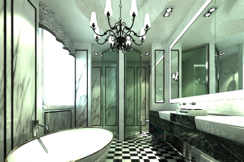 European style bathroom 3d model