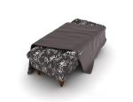 European black and white pattern sofa 3d stool model