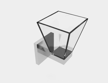 Gray simple glass wall lamp 3d model