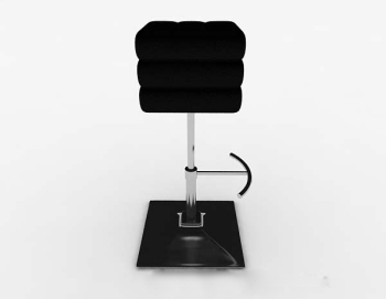 Black simple bar stool 3d model