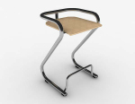 Modern simple metal bar chairs 3d model
