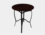Dark brown round table 3d model