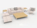 3d model of lavender combination sofa
