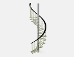 3d model of simple spiral spiral staircase