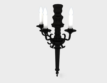 European candle lamp 3d model