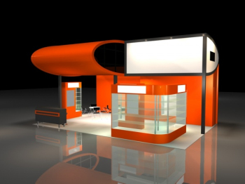 Orange Creative Hall 3d model