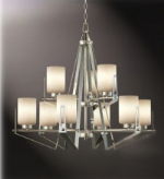 Stylish living room chandelier 3d model