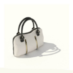 Ms. square white handbag 3D model